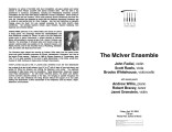 2004-04-16 McIver Ensemble [recital program]