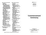 2004-05-14 Commencement Ceremony [recital program]