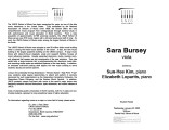 2003-01-22 Bursey [recital program]