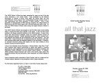 2003-01-30 All That Jazz [recital program]