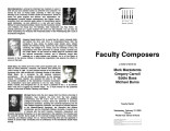 2003-02-12 Faculty Composers [recital program]