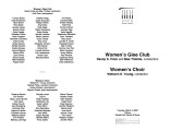 2003-03-04 Women's Glee Club and Choir (printed date incorrect) [recital program]