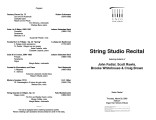 2003-03-20 String Studio [recital program]