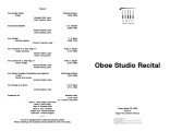 2003-03-28 Oboe Studio [recital program]
