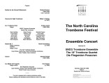 2003-03-29 NC Trombone Ensemble [recital program]