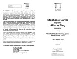 2003-04-08 Carter Ring [recital program]