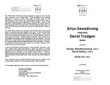 2003-04-10 Sawadivong Trudgen [recital program]