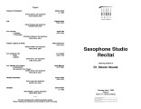 2003-05-01 Sax Studio [recital program]