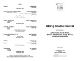 2003-05-01 String Studio [recital program]