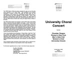 2003-05-04 University Choral Concert [recital program]