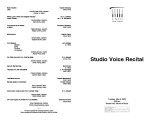 2003-05-06 Studio Voice [recital program]