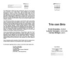 2003-10-19 Trio con Brio [recital program]