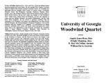 2002-02-10 University of Georgia Woodwind Quartet [recital programs]
