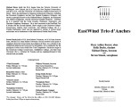 2002-02-18 Eastwind Trio d'Anches [recital programs]