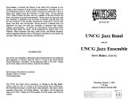 2002-03-07 UNCG Jazz Band and Ensemble [recital programs]