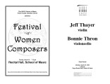2002-03-18 Thayer Thron [recital programs]