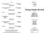 2002-03-20 String Studio [recital programs]