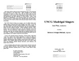 2002-05-04 UNCG Madrigal Singers [recital programs]