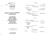 1999-12-03 Music by UNCG Student Composers [recital prgram]