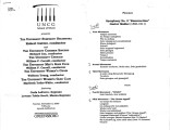 2000-11-05 Symphony Orchestra Chamber Singers  Men's Glee Club Women's Choir Women's Glee Club...