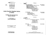 2000-11-16  Artist Faculty Chamber Series Copland, Jazz and American Musical Identity [recital...