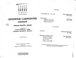2000-01-23 Carpenter Smith [recital program]