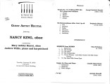 2000-01-25 King [recital program]