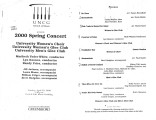 2000-04-30 200 Spring Concert University Women's Choir University Women's Glee Club University...
