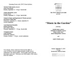 2001-09-23 Music in the Garden [recital programs]