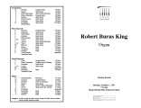 2001-10-01 King [recital programs]