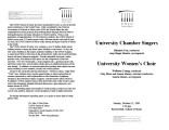 2001-10-21 University Chamber Singers University Women's Choir [recital programs]