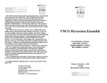 2001-11-05 UNCG Percussion Ensemble [recital programs]