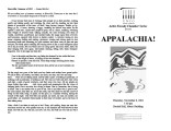 2001-11-08 Appalachia! [recital programs]