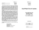 2001-11-19 EastWind Trio d' Anches [recital programs]