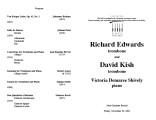 2001-11-30 Edwards Kish Shively [recital programs]