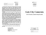 2001-12-02 Gate City Camerata UNCG Faculty & Student String Ensemble [recital programs]