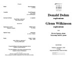 2001-12-08 Dohm Wilkinson [recital programs]