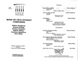 2001-01-22 Music by UNCG Student Composers [recital program]