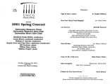 2001-02-25 2001 Spring Concert [recital program]