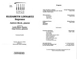 2001-03-18 Linnartz Mock [recital program]