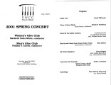 2001-04-29 2001 Spring Concert [recital program]