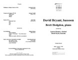 2001-08-02 Byrant Hodgdon [recital program]