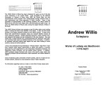 2002-09-06 Willis Works of Ludwig van Beethoven (1770-1827) [recital program]