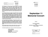 2002-09-11 September 11 Memorial Concert [recital program]