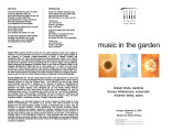 2002-09-22 Music in the Garden [recital program]