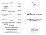 2002-11-23 Turner [recital program]
