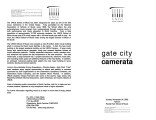 2002-11-24  Gate City Camerata [recital program]