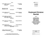 2002-12-05 Keyboard Division Recital [recital program]