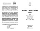 2002-12-08 Holiday Choral Concert 2002 [recital program]