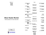 2004-11-12 Oboe Studio Recital [recital program]